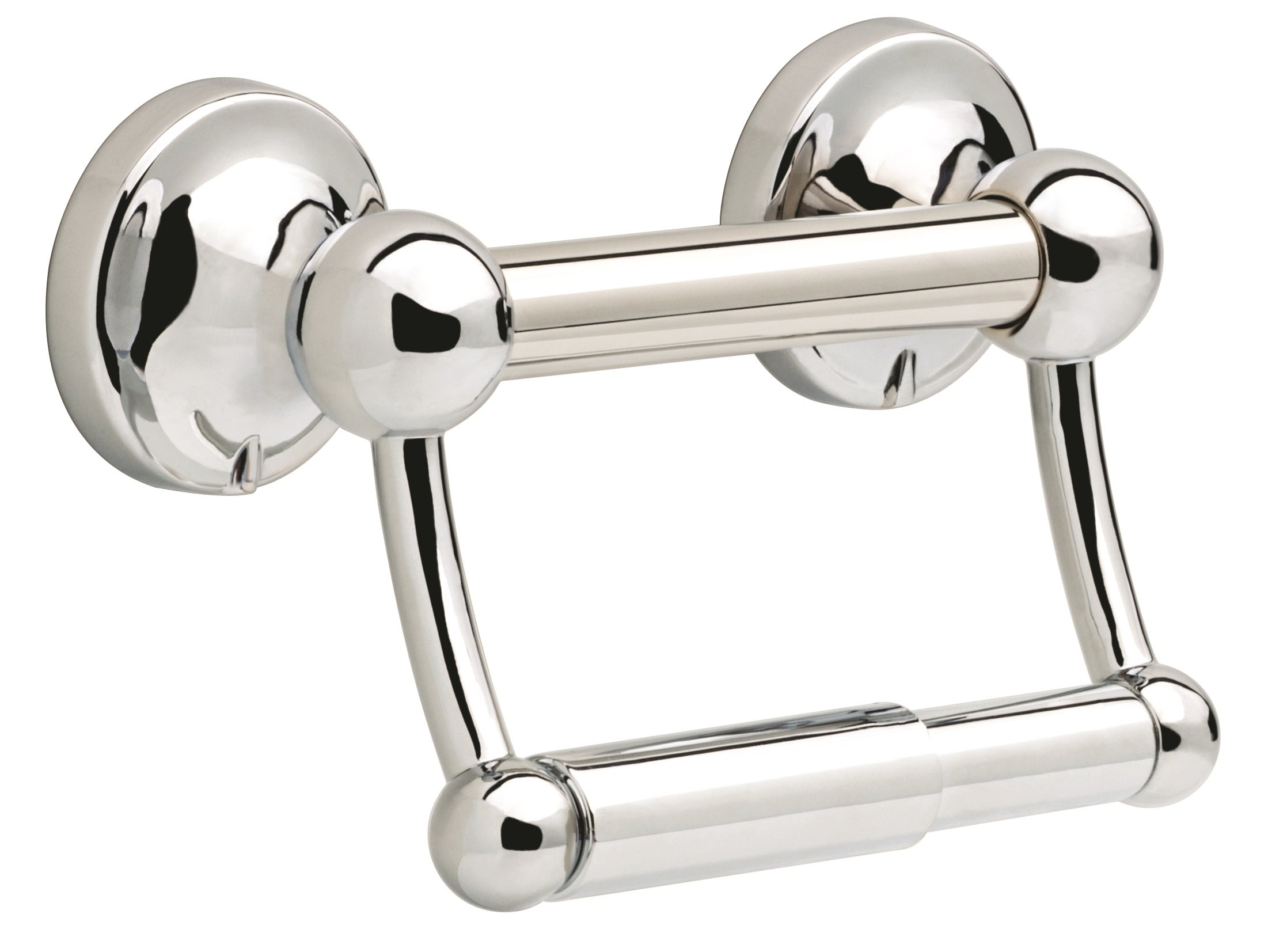 Delta DF704PC Bath Hardware Accessory Toilet Paper Holder with Assist Bar, Polished Chrome