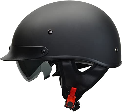 Vega Helmets 7800-055 Warrior Motorcycle Half Helmet with Sunshield