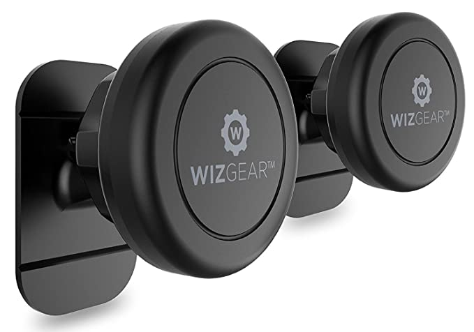 Magnetic Cell Phone Mount >> Magnetic Mount Wizgear Universal Stick On 2 Pack Dashboard Magnetic Car Mount Holder For Cell Phones And Mini Tablets With Fast Swift Snap