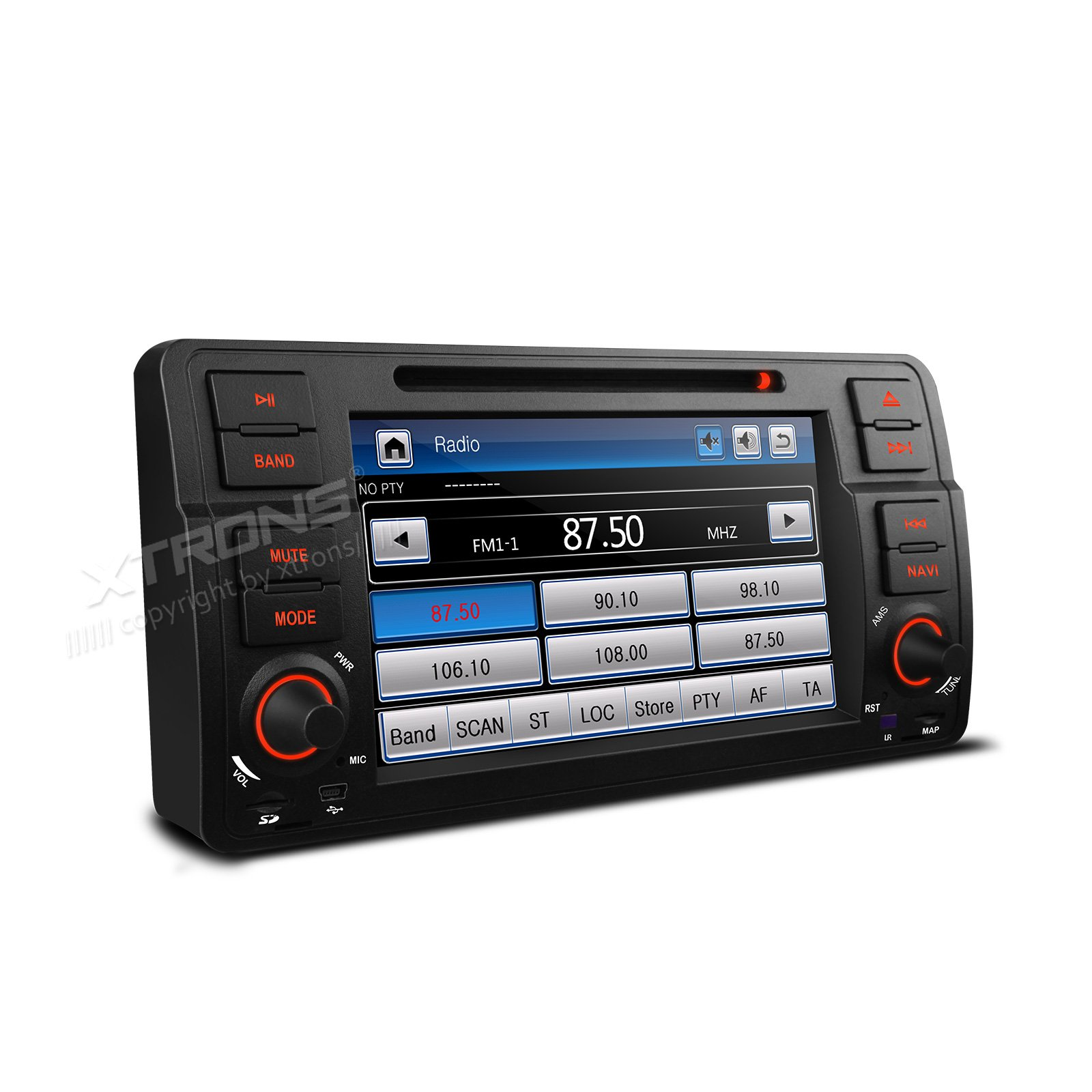 XTRONS 7 Inch HD Digital Touch Screen Car Stereo Radio in-Dash DVD Player with GPS Navigation CANbus Screen Mirroring Function for BMW E46 318 320 325 by XTRONS