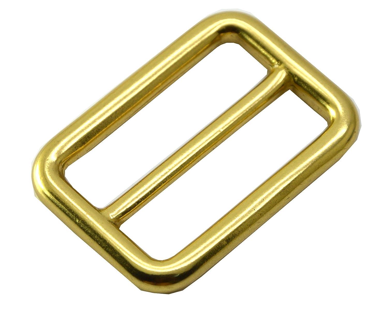 okones Pack von 6Pcs, Messing Rechteck Schnalle Loop Ring Gürtel Gurt für Rucksack Tasche Zubehör, Insides 1'' okones Pack von 6Pcs Insides 1''