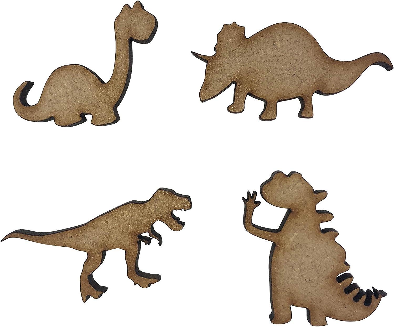 20x Assorted Dinosaurs 3cm Wood Craft Embellishments Laser Cut Shape MDF