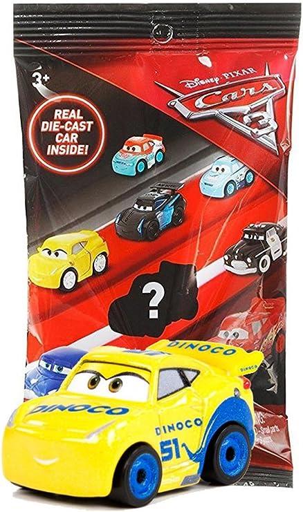 3 Disney Pixar Cars 3 Blind Bag MINI RACERS with DIE-CAST Toy Vehicle Inside!