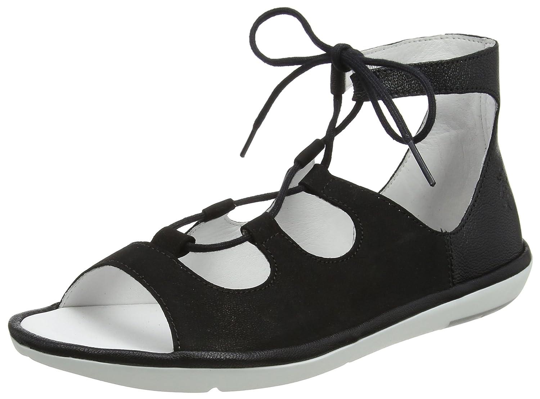 FLY London Women's MURA859FLY Sandal B07528JMT4 37 M EU (6-6.5 US)|Black Cupido/Mousse