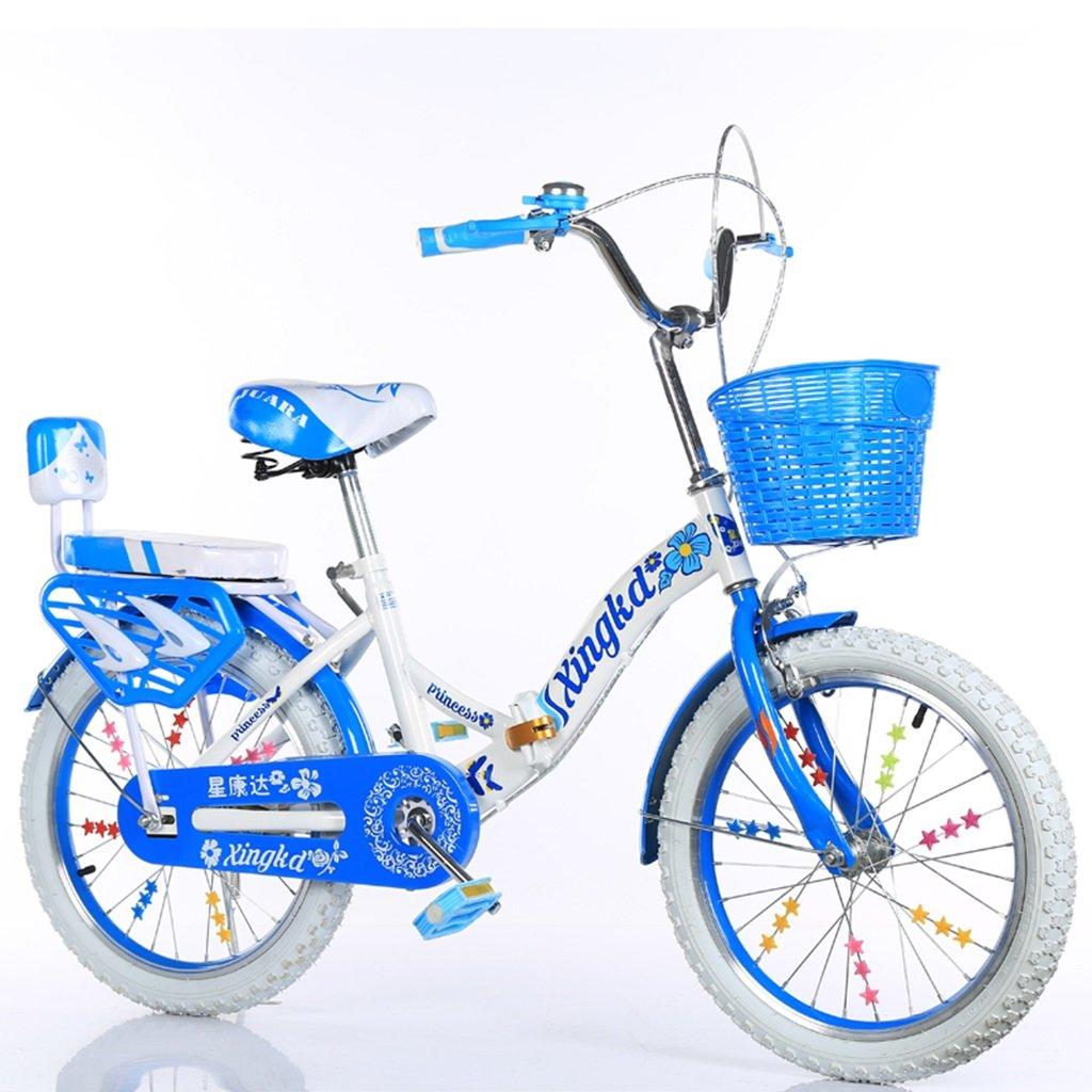 CSQ 子供の折りたたみ自転車、男の子、女の子学生バスケット後部座席高炭素鋼ボディ丈夫で安全な子供用5-13 115-128CM 子供用自転車 (色 : C, サイズ さいず : 115CM) B07DWL5VHY 115CM|C C 115CM