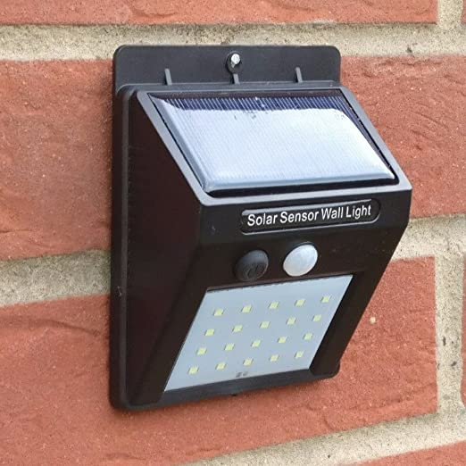 30 LED Solar Powered PIR Motion Sensor Light Outdoor Garden Security Wall Lamps