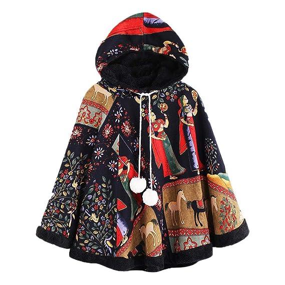 ... Capas Manto Modernas Casual Anchas Batwing con Botón Fiesta Chal Niña Moda Juveniles Negros Parkas Abrigos De Paño Ponchos: Amazon.es: Ropa y accesorios