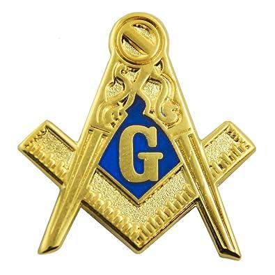 44541f907bf8 Amazon.com: Square & Compass Blue & Gold Masonic Lapel Pin - 1