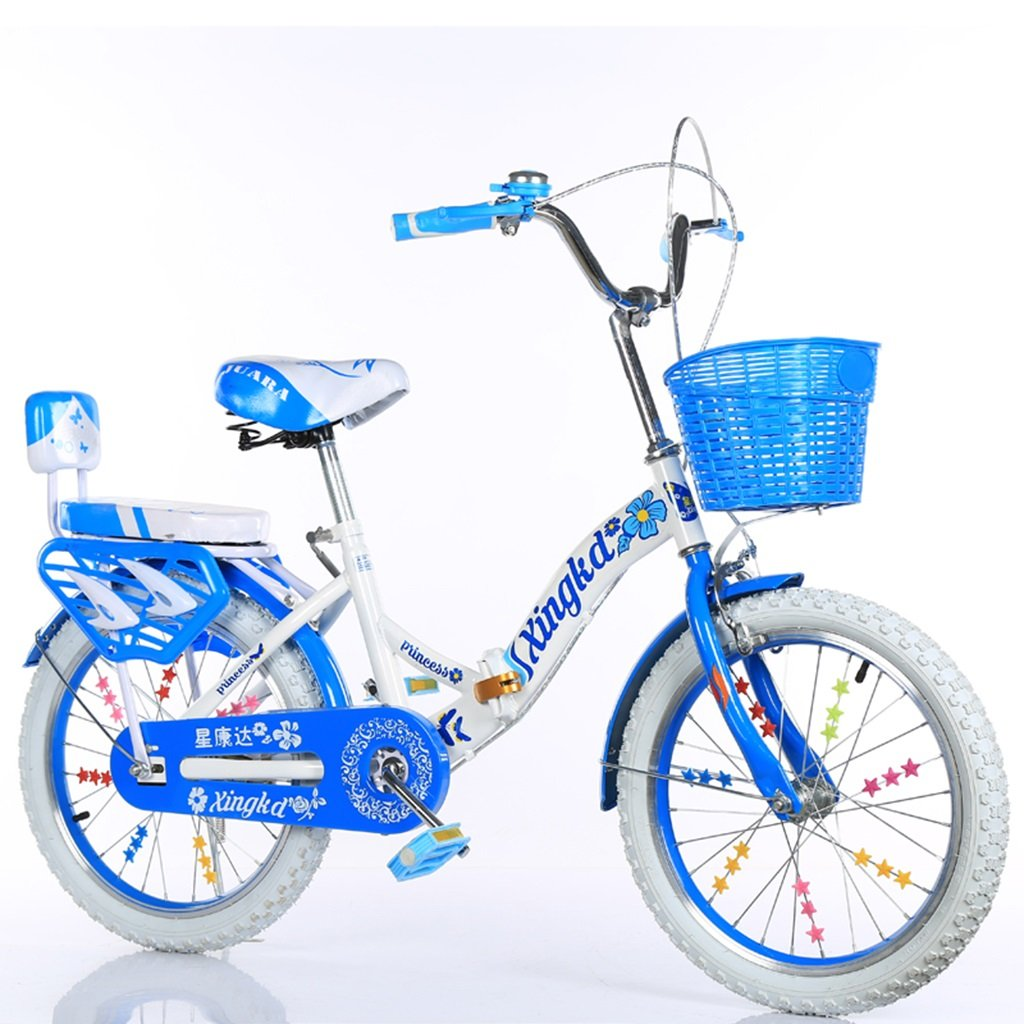 Bicicletas plegables para niños, niños y niñas Cesta para estudiantes Asiento trasero Cuerpo de acero con alto contenido de carbono Robusto y seguro para niños de 5 a 13 años de edad 115-128 CM ( Color : C , Tamañ
