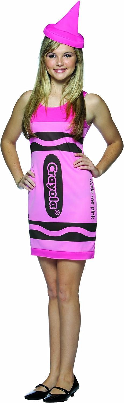 Crayon Tank Dress Fits Sizes 4-10 Pink//Green