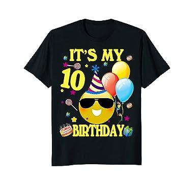 Mens 10 Birthday Boy Shirt Years Old 10th Gift 2XL Black