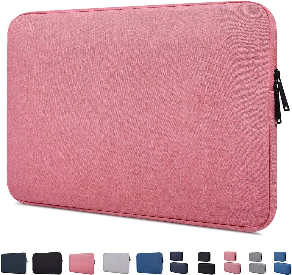 11-11.6-12 Inch Waterproof Laptop Sleeve Bag Compatible with MacBook Air 11.6/MacBook 12 Inch, Acer Chromebook R 11,HP Chromebook 11, Lenovo ASUS Samsung Chromebook 11.6 inch Notebook Tablet Case,Pink