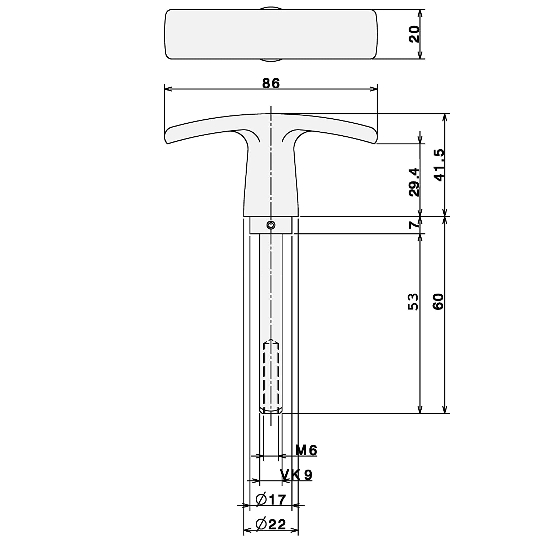 Torgriff Garagentorgriff Griff Garagentor Alu F1 9 x 82 mm