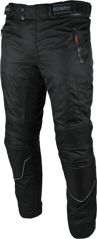 3XL Heyberry Motorradhose Textil Schwarz Weiß Gr