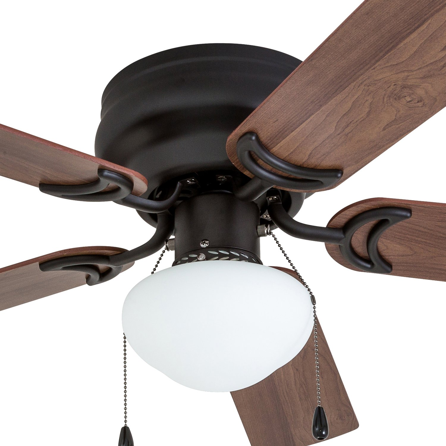 Prominence Home 50860 Alvina LED Globe Light Hugger/Low Profile Ceiling Fan, 42 inches, Bronze by Prominence Home (Image #2)