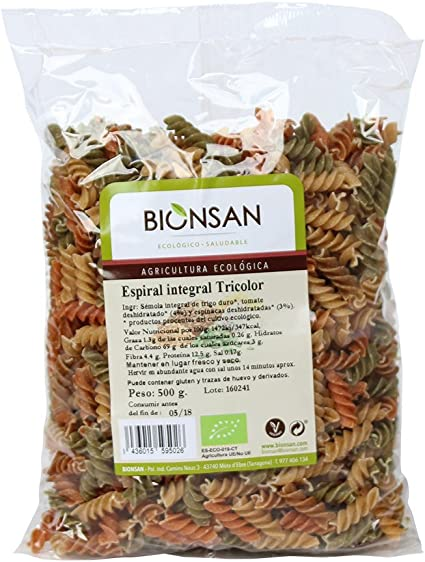 Bionsan Espiral Tricolor Integral de Trigo Ecológico - 6 ...