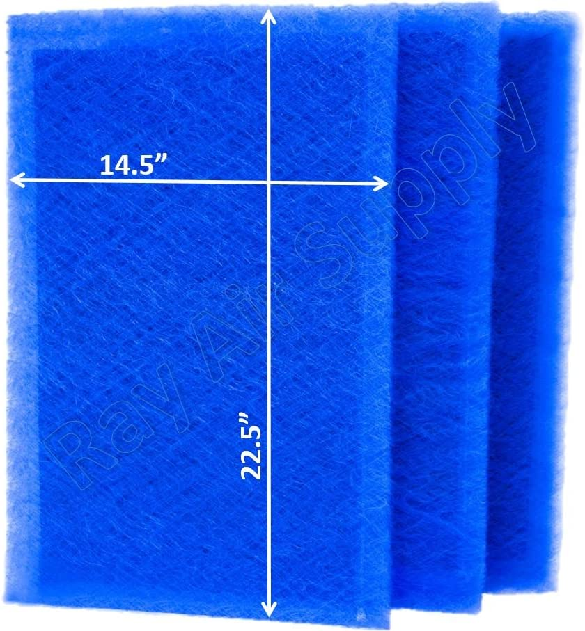 RAYAIR SUPPLY 16x25 Dynamic Air Cleaner Replacement Filter Pads 16X25 Refills (3 Pack)