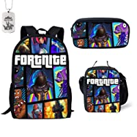 Fortnite Backpack, School Bags Fortnite Battle Royale School Bag Backpack Notebook Backpack Daily Backpack for Kids Adults
