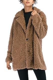 VILIER - Chaqueta de Forro Polar para Mujer, Suave, de Piel sintética, con