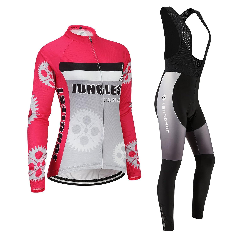 Cycling Jersey Setレディース長袖( S ~ 5 X L、オプション:よだれかけ、3dパッド) n211 XXXL(General pad)(188-192cm/85-90kg) 種類: セット(ブラック前掛け) B01BX2GA8E