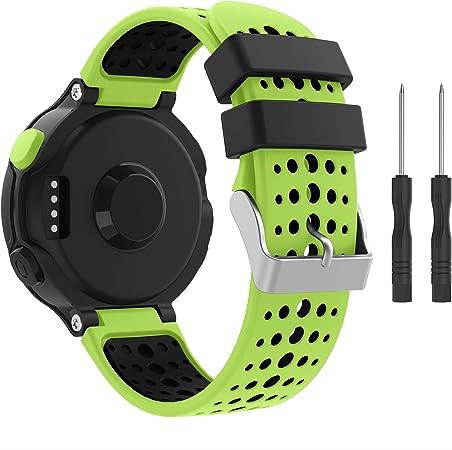 Ypsnh Kompatibel Für Garmin Forerunner 235 Armband Silikon Ersatzarmband Weichen Für Forerunner 235 220 230 620 630 735 Sport Freizeit