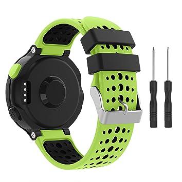 YaYuu Garmin Forerunner 235 Correa de Reloj, Banda de Reemplazo Silicona Suave Sports Pulsera para Forerunner 235/220/230/620/630/735XT Smart Watch: ...