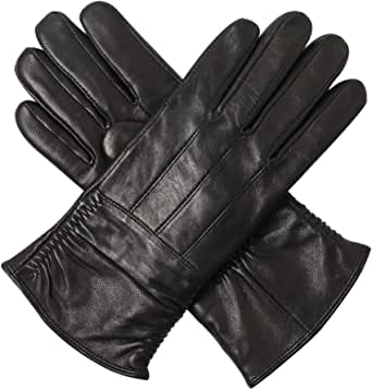 Women's Genuine Leather Winter Gloves - Acdyion Cold Weather Thinsulate Warm Lined Driving Gloves