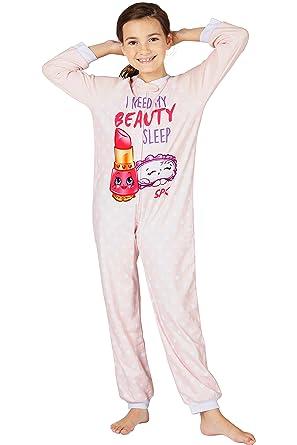 f681ac62b7 Amazon.com  Shopkins  Beauty Sleep  Footless One Piece Pajama Set ...