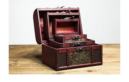 WKAIJCO Ornamentos Retro Equipaje Maletas Cajas De Madera Fotografía Accesorios Ventanas Bares Exposiciones Cafetería Decoraciones