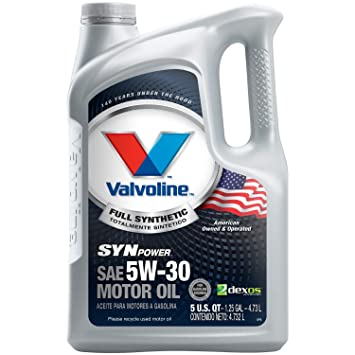 Full Synthetic Oil >> Amazon Com Valvoline Synpower 5w 30 Full Synthetic Motor Oil 5qt