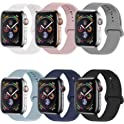 6-Pack VATI Apple Watch Soft Silicone Strap Replacement Sport Band
