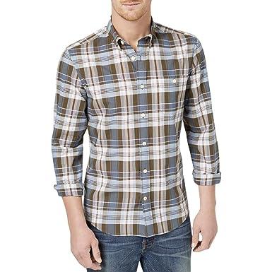 d89233b9 Tommy Hilfiger Mens Plaid Button Up Shirt at Amazon Men's Clothing ...