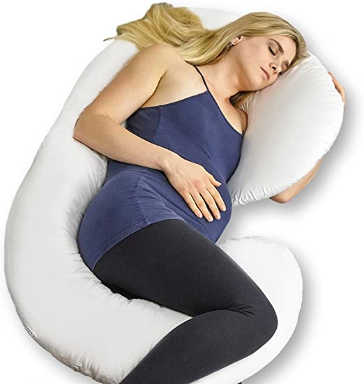 C//U Shape Full Body Pregnancy Pillow Cover for Maternity Pregnant Women USA
