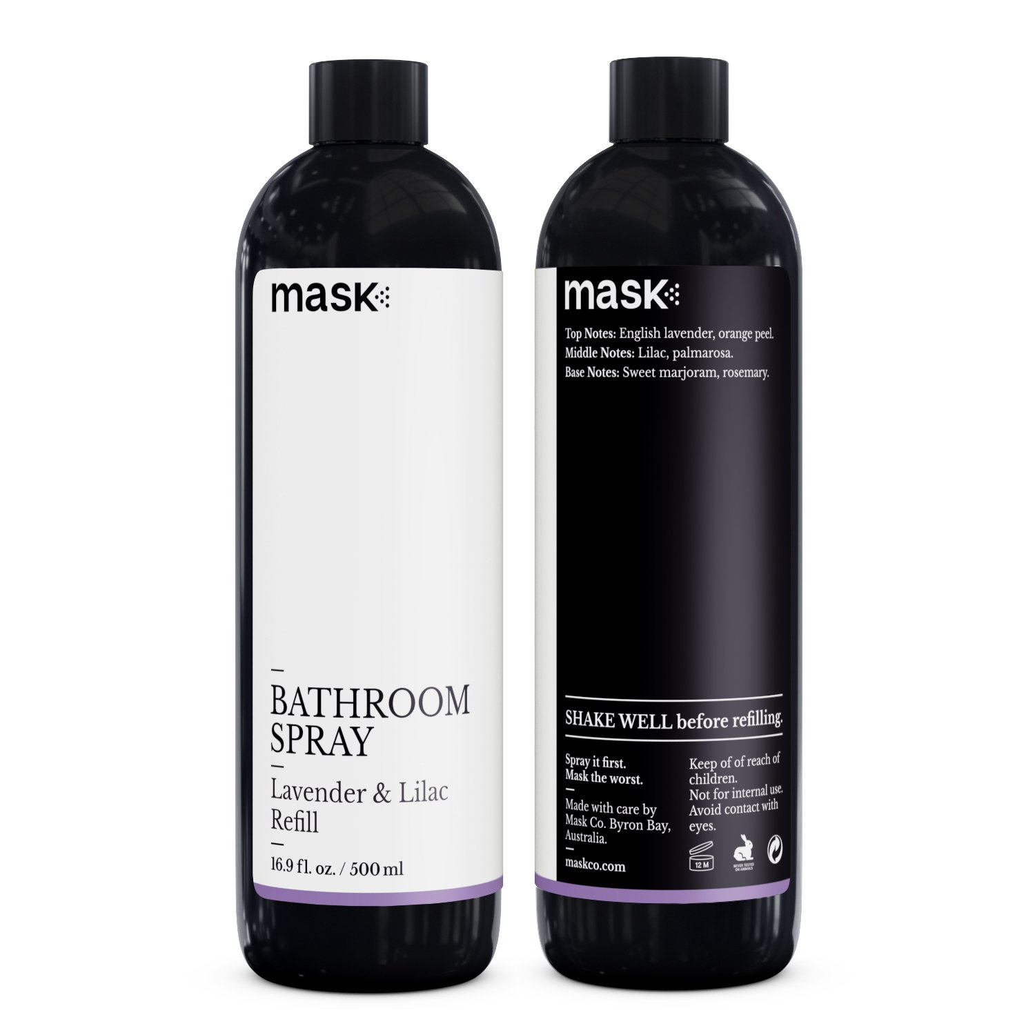 Mask Bathroom Spray Lavender and Lilac 16-Ounce Refill, Toilet Spray, Before You Go Deodorizer, Best Value Air Freshener Poo Poop Spray, Perfect for Travel, Risk Free Offer! by Mask (Image #2)