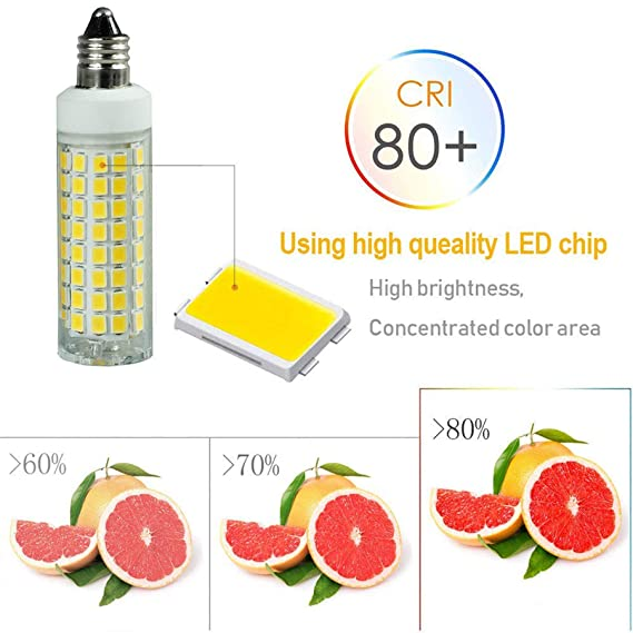 LED E11 Dimmable Light Bulb 6 Watts E11 JD Type LED 120V 50W Halogen Replacement Bulb for Under Counter Kitchen Lighting, Under-Cabinet Light (Daylight ...