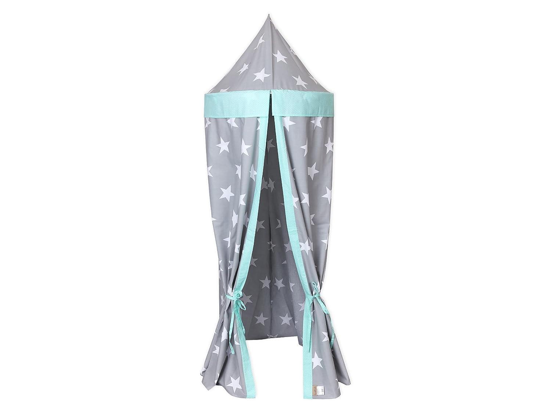 KraftKids Hängezelt große weiße Sterne auf Grau und weiße Punkte auf Mint