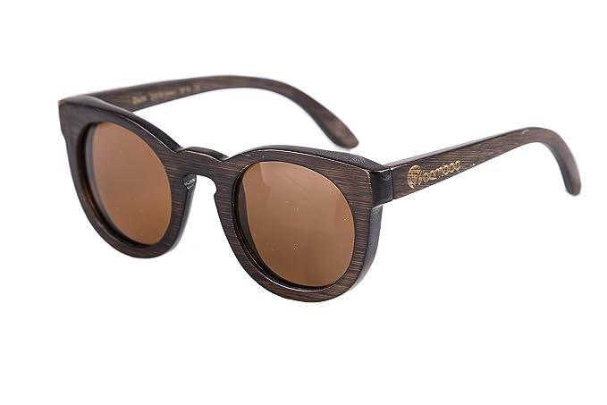 Gafas Bamboo - Gafas de madera de bambú Owl Dark Chocolate, polarizadas