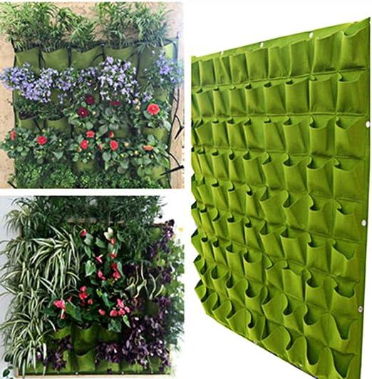 Ogori Jardín vertical para exteriores con 72 bolsillos de tela: Amazon.es: Jardín