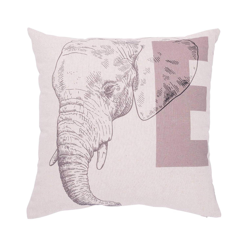 Liza Line Coussin de Decoration Animal Singe - 45x45 cm 100/% Coton