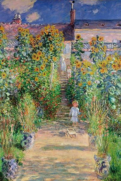 1art1 Claude Monet Posters XXL 1881 Le Jardin De Monet /À V/étheuil 120 x 80 cm
