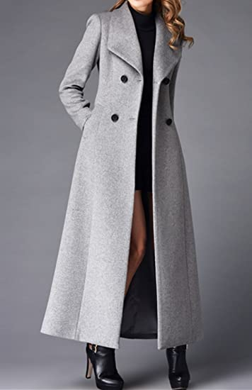 Sonderverkäufe Online kaufen wähle das Neueste PLAER Damen Kaschmir Mantel Lange Graben Mantel Wolle Mantel