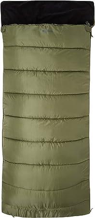 Cremallera bidireccional Saco de Dormir con Aislamiento t/érmico de Fibras Huecas Mountain Warehouse Saco de Dormir Sutherland Saco extrac/álido para Viajar