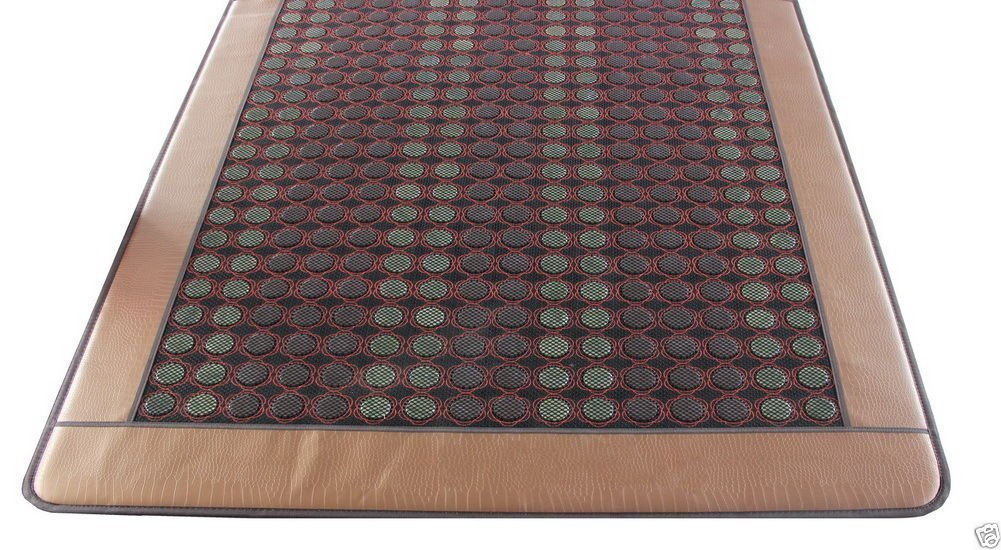 HealthyLine Infrared Heating Mat|Natural Jade & Tourmaline Stone 80'' x 76'' | Negative Ions (King) | Relieve Pain, Stress & Insomnia | FDA by HealthyLine (Image #2)