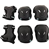 Physport Safety Protective Gear S,M,L Size Keen,Elbow,Wrist 6pcs Set Protective Pads