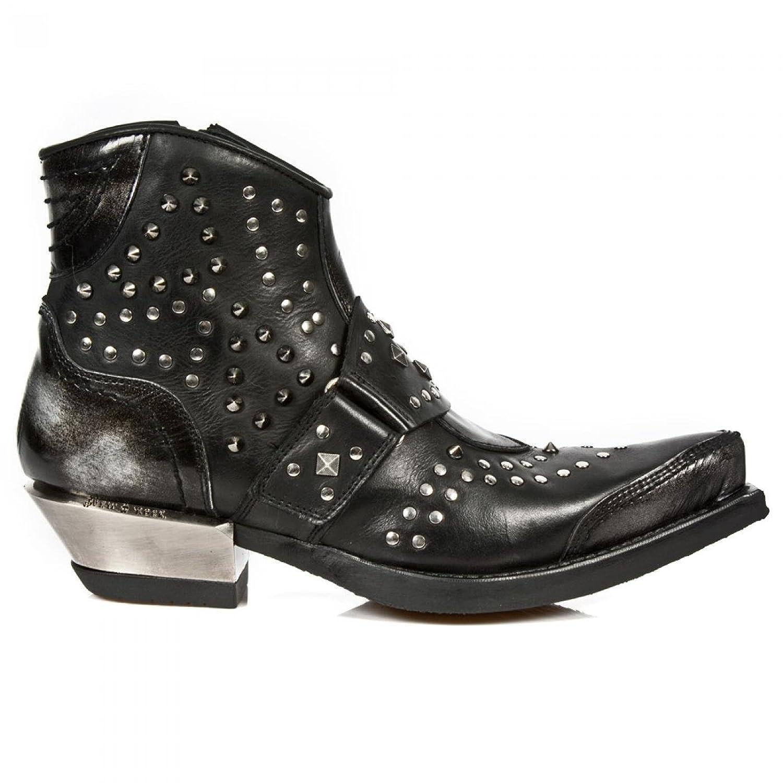 New Rock Boots M.7957 C1 Urban Biker Hardrock Herren Stiefelette Steel Colored