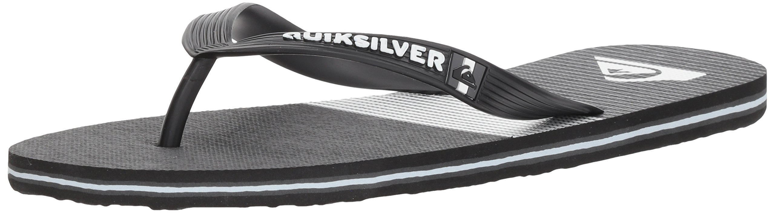 Quiksilver Men's Molokai Tijuana Sandal, Black/Grey/White, 10 M US