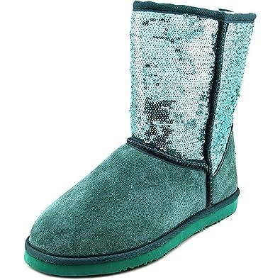 e90662181cb Lamo Women's Sequin Suede Faux Shearling Boot