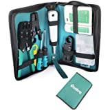 Reelva Ethernet Network Tool Kit LAN RJ11 RJ45 Cat5e TV Cable Tester Crimp Stripper Tool Set