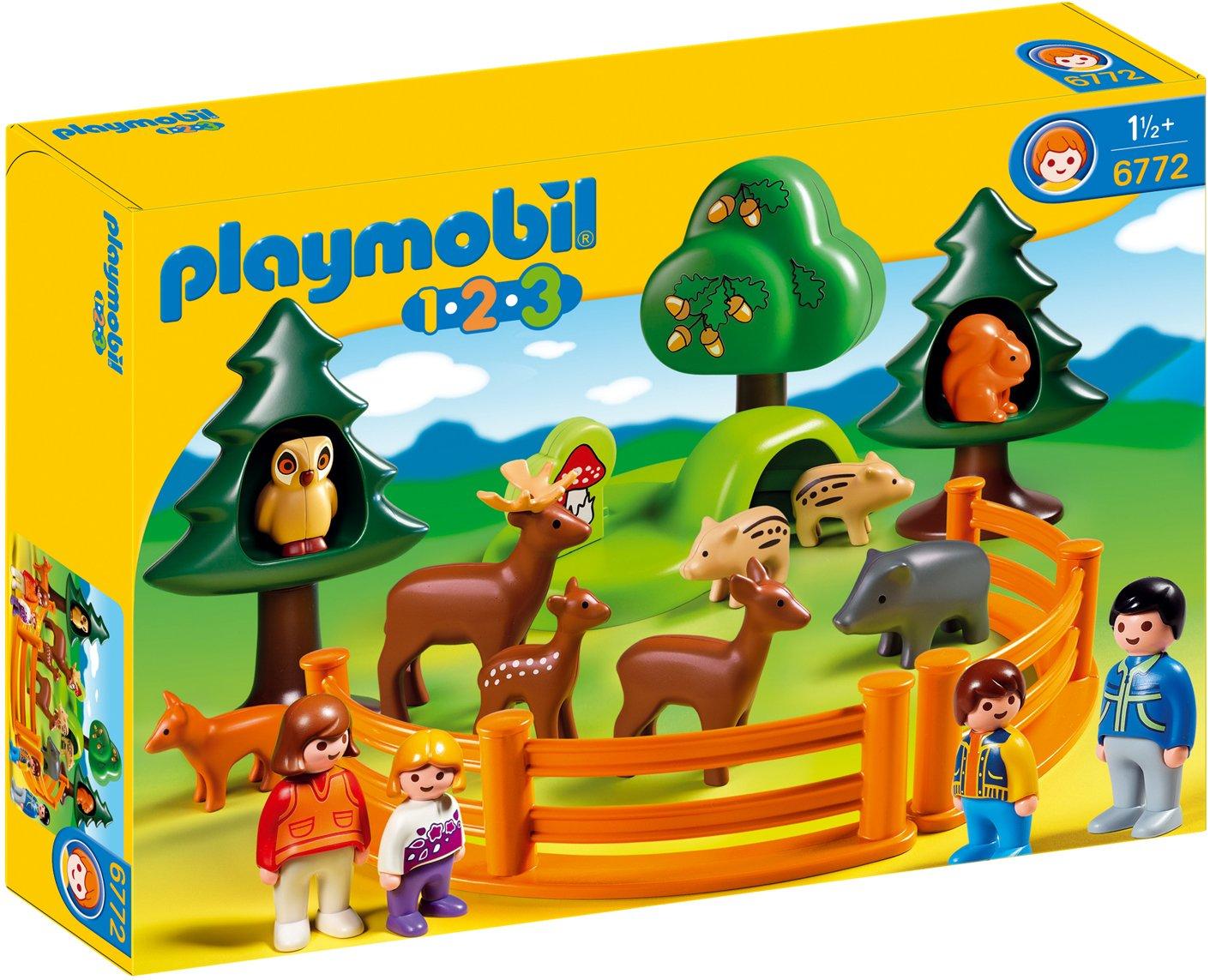 Playmobil 6772 - Jeu de construction - Parc d'animaux et famille