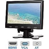 CAIRUTEK 7インチの超薄型16:9 HD 高画質「800*480」カラーTFT LCDモニターヘッドレストモニタータッチボタンモニター画面(AV HDMI VGAビデオ入力あり)12V / 24V互換